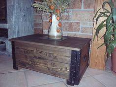 Shabby Alte Frachtkiste Couchtisch Holzkiste Truhe Tisch Vintage Whiskey  Wohnen