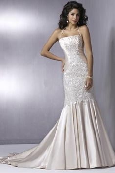 Enchanting Sheath Halter Wedding Attire with Ruche Details and Lace