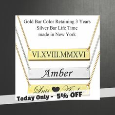 Today Only! 5% OFF this item.  Follow us on Pinterest to be the first to see our exciting Daily Deals. Today's Product: Name Bar Necklace, Custom Name,   Name Necklace, Monogram Necklace,  Personalized Name Necklace, Custom Name bar necklace, bridesmaid gift Buy now: https://www.etsy.com/listing/399608549?utm_source=Pinterest&utm_medium=Orangetwig_Marketing&utm_campaign=personalized%20name%20necklace   #etsy #etsyseller #etsyshop #etsylove #etsyfinds #etsygifts #musthave #loveit #instacool…