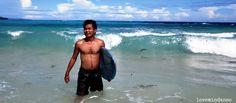 Surfing in Dahican Beach, Mati, Davao Oriental