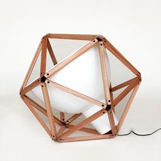HENRY PILCHER, BLOCK 2: industrial lamp in an icosahedron! #home #decor