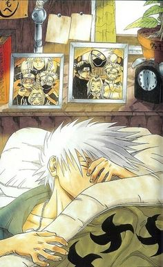 Naruto ~~ When I first saw this art in the manga, I actually broke down and cried :: Kakashi Hatake