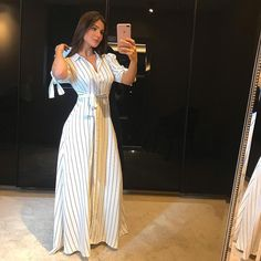 I Love Fashion, Modest Fashion, Fashion Dresses, Striped Maxi Dresses, Casual Dresses, Sunday Clothes, Dress Skirt, Bodycon Dress, Weeding Dress