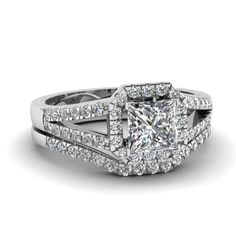 white-gold-princess-white-diamond-engagement-wedding-ring-in-pave-set-FDENS3157PR-NL-WG