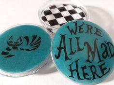 Alice in Wonderland inspired Three part Magnetic Herb Weed Tobacco Grinder