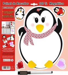 Lousa De Recado Imã Pinguina Painel Para Geladeira - Loja Ula lá