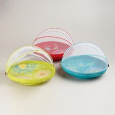 Extra-Large Round Painted Food Dome, Set of 3 | World Market