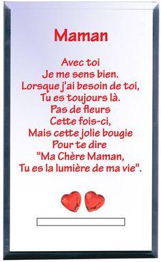 Photophore Maman, cadeau fête des mères, Cadodes.com