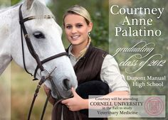 2012 Equestrian Graduation Announcement or Invitation - Custom Photo