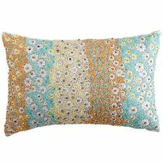 . . . Pier 1 Imports Beaded Floral Lumbar Pillow