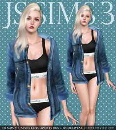 [JS SIMS 3&4] Calvin Klein Sports Bra+Underwear | JS SIMS
