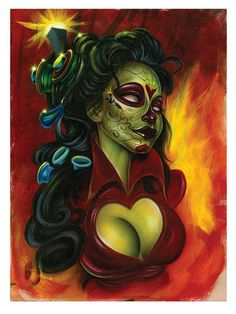 "Poster ""Electric Day of the Dead"" by Joe Capobianco – Hope Gallery"