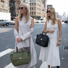 Monochrome chic with Camille Charriere and Pernille Teisbaek, both carrying the new BOSS Bespoke Soft.