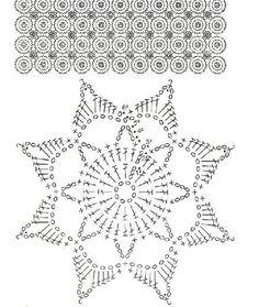 Crochet Tablecloth Pattern, Crochet Snowflake Pattern, Crochet Edging Patterns, Crochet Stars, Christmas Crochet Patterns, Crochet Snowflakes, Crochet Mandala, Crochet Diagram, Doily Patterns