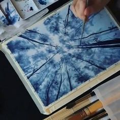 28 Ideas for painting watercolor trees forests Watercolor Illustration, Watercolor Paintings, Watercolour, Watercolor Trees, Tree Illustration, Landscape Illustration, Watercolor Video, Watercolor Tutorials, Watercolor Design