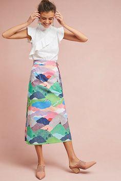 Picturesque Hillside Pencil Skirt | Anthropologie