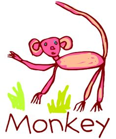 child art monkey  T