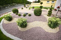 Kiesgarten - All For Garden Dry Garden, Gravel Garden, Gravel Landscaping, Front Yard Landscaping, Small Gardens, Outdoor Gardens, Front Yard Design, Garden Projects, Garden Inspiration