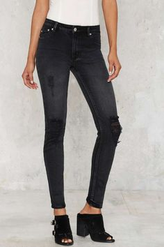 RES Denim Kitty Skinny Jeans - Black | Shop Clothes at Nasty Gal!