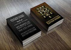 Custom business card design. Poe Designs on Etsy.