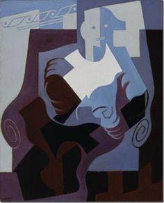 JUAN GRIS, Arlecchino seduto, 1920Olio su tela, cm 100,3 x 71,1