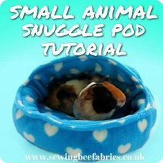 Free sewing tutorial - Step by step photo instructions showing you how to make your own hooded fleece basket for guinea pigs, rabbits and other small animals