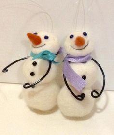 Lumiukot huovutetuista palloista, marraskuu 2016, myyjäisiin oma idea