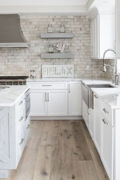 THE BEACH COTTAGE PROJECT Kitchen American Cottage by Town & Country Kitchen and Bath would enjoy creating this beachy cottage kitchen cabinets, tiles, countertops and tile floors. Beach Cottage Style, Beach House Decor, Home Decor, Coastal Cottage, Coastal Living, Coastal Style, Beach Kitchen Decor, Cottage Style Decor, Kitchen And Bath Design