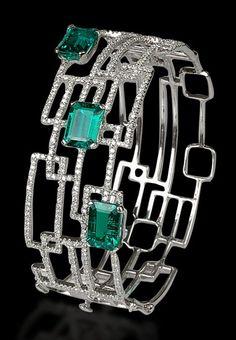 Minawala's geometric bracelet is ideal for a work-to-party. Image:Minawala