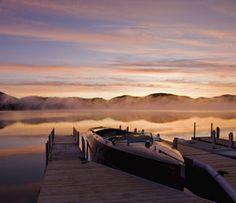 Morning Glow: Lake Placid Lodge, NY
