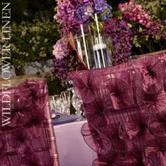 e1eb7ecf6 Love these chair covers from Wildlflower Linens Wedding Chair Decorations,  Wedding Chairs, Wedding Table