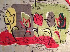 1950s fabric (barkcloth)