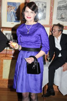 Elizabeth McGovern at the Dior, Harrods Collaboration Dinner in London on 3/14/13.