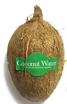 The components: The Coconut Water packaging from the outside. -The container of this packaging is made of a nut and inside the coconut water juice is in a plastic container -There are no sophisticated added decoration except the green label that is put on top of the coconut to emphasize where the coconut come from( Dominican Republic) and is natural attribute. Totally ecologic the coconut reprents a very low cost for the manufacturer but represent a huge impact in consumer's mind.