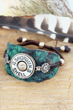 Make a bold statement with this shotgun shell bracelet!