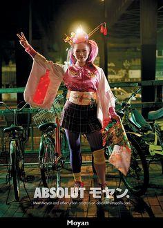 Japanese Advertising - Absolut Metropolis - Moyan