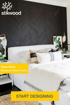 Master Bedroom Makeover, Bedroom Inspo, Home Bedroom, Bedroom Decor, Accent Wall Bedroom, Accent Walls, Queen, New Room, Easy Peel