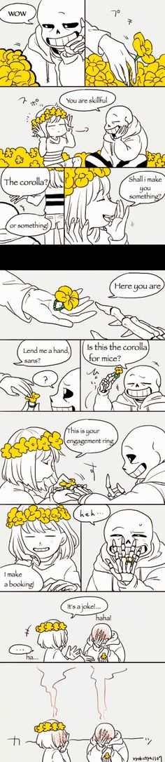#sans x frisk #sans #frisk  i don't know who make this comic but i loved it and i ship them <3