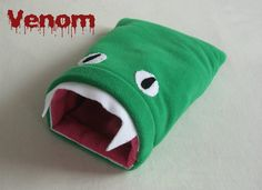 Medium Piggy Eating Monster Sack. Fun bed for Guinea pigs and other small furries! From www.pawsup4cosypets.co.uk