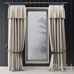 Curtains with marine decor