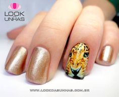 Cool #tiger accent nail!