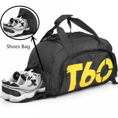 Features: Sports and Gym Duffle Bag Super durable waterproof fiber.Close with High Quality SBS corded zipper with pull string will not break on you. Large Capacity Travel in style with excellent la… Duffel Bag, Backpack Bags, Travel Luggage, Travel Bags, Soccer Store, Men Accesories, Accessories, Travel Workout, Soccer Cleats