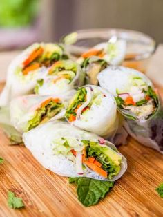 11 Delicious Ways to Make Gluten-Free Summer Rolls & Spring Rolls: Vegan Veggie Summer Rolls with Peanut Sauce