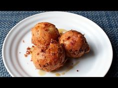 Bacon & Egg Doughnuts - Beignet-style Bacon and Egg Fritters - National Doughnut Day Special - YouTube
