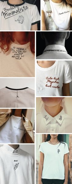 Embroidery Tshirt Handmade Ideas For 2019 Embroidery On Clothes, Hand Embroidery Patterns, Embroidery Designs, Customised Clothes, Custom Clothes, Diy Kleidung Upcycling, Cut Shirt Designs, Diy Clothes And Shoes, Denim Art