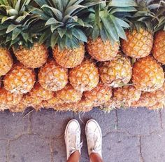 Shape/form: you can really see the individual shape of each pineapple and the design of the leaves.