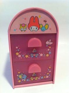 Vintage My Melody Drawers Sanrio 1976 Hello Kitty HTF!!