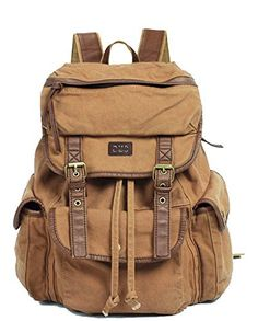 Vintage Canvas Leather Travel Rucksack Military Backpack - Serbags Serbags http://www.amazon.com/dp/B00EYUB07O/ref=cm_sw_r_pi_dp_-vW7vb01QEMK3