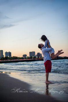 beach engagement pic