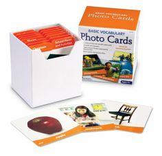 Amazon.com: Learning Resources Ler6079 Basic Vocabulary Photo Card Set: Toys & Games